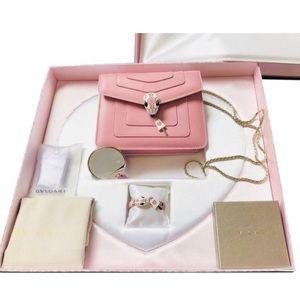 Bulgari limited edition pink purse set